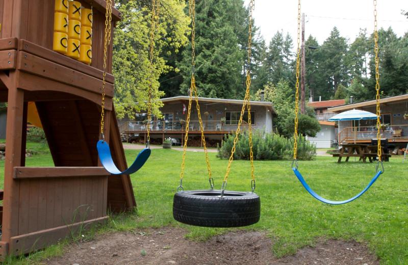 Playgrounds at Blue Vista Resort.