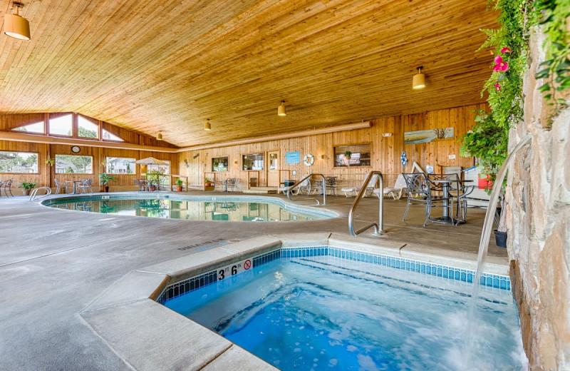 Indoor pool at Misty Harbor Resort.