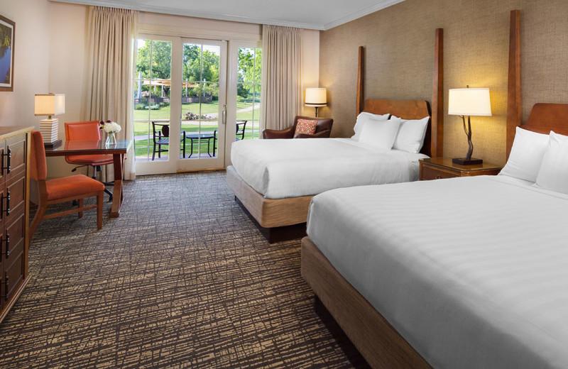 Two bed guest room at Hyatt Regency Lost Pines Resort and Spa.
