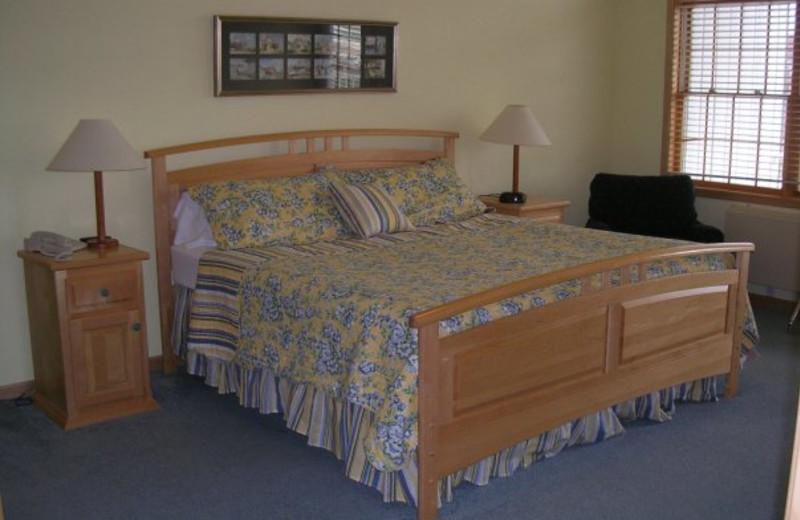 Master bedroom at Birchwood Lodge.