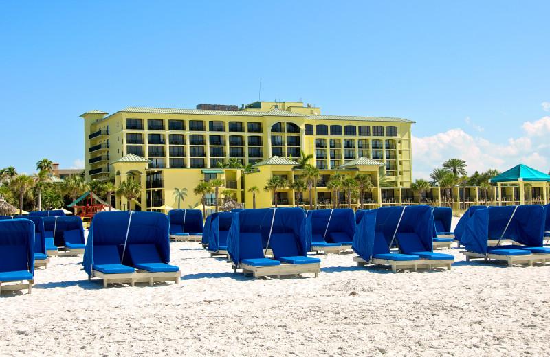 The beach at Sirata Beach Resort.