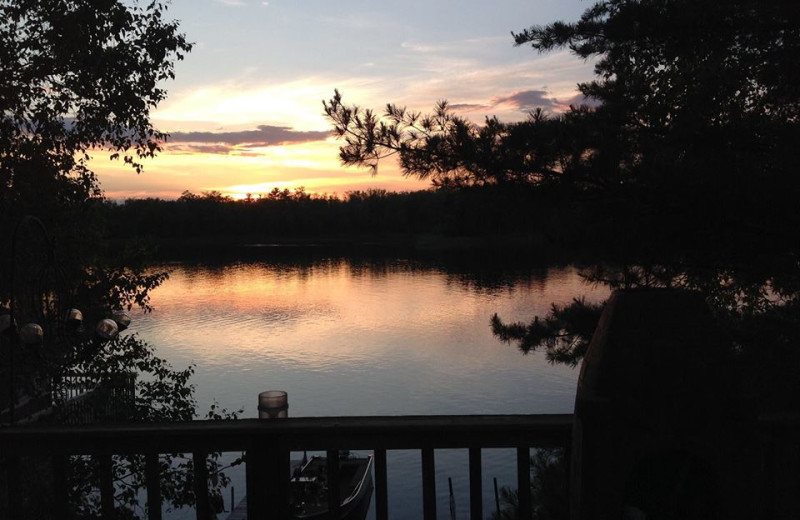 Views of the lake from your cabin at Beauty Bay Lodge & Resort