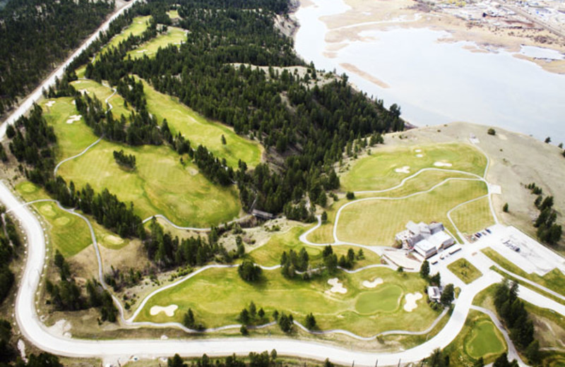 Aerial View of the Grey Wolf Golf Course at the Panorama Vacation Retreat at Horsethief Lodge