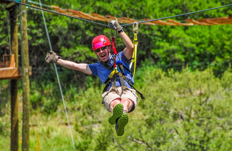 Zip line at Glenwood Canyon Resort.