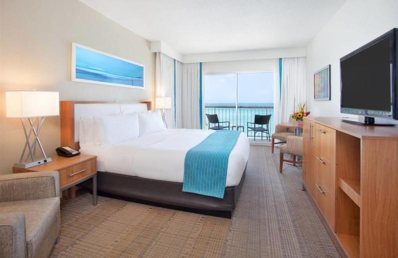 Guest room at Holiday Inn SunSpree Resort Aruba - Beach Resort & Casino.