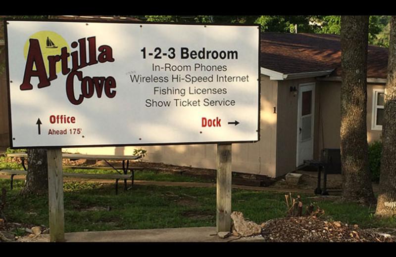 Welcome to Artilla Cove Resort.