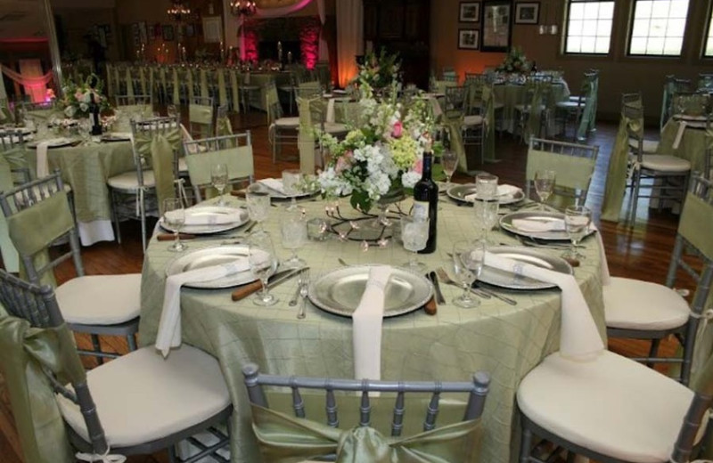 Wedding reception at Fontana Village Resort.
