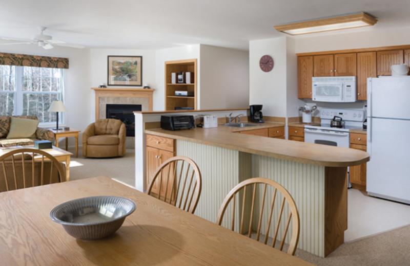 Rental interior at Smugglers' Notch Resort.
