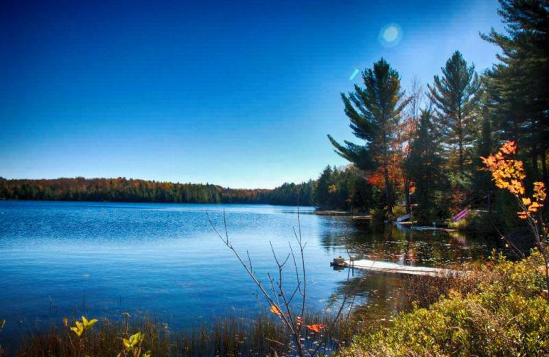 Lake view at Bonnie Lake Resort.