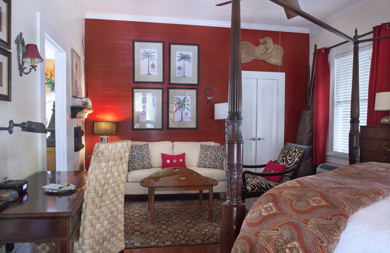 Guest room at Mermaid & Alligator Key West.