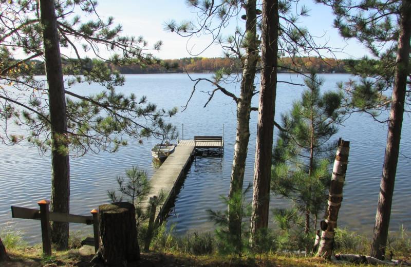 Lake view at Northwoods Vacation Rentals.