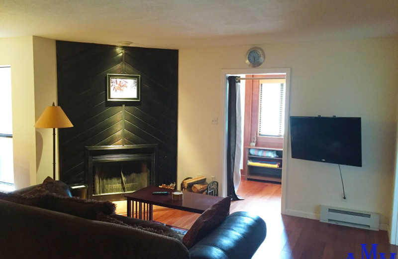 Rental living room at Cozy Mountain Condo (AMM Properties).