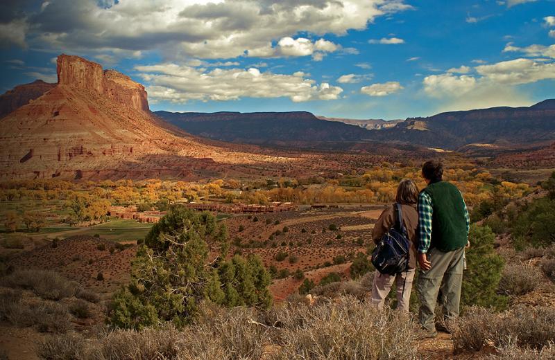 Couple Looking at View at Gateway Canyons Resort
