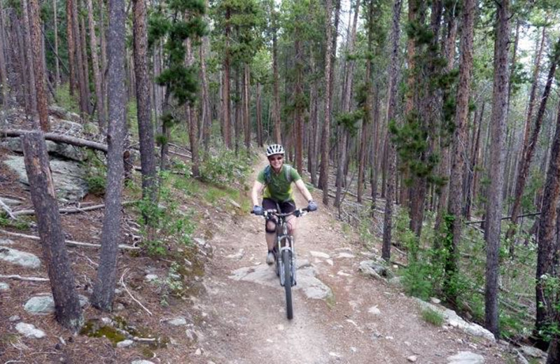 Biking near Colorado Bear Creek Cabins.