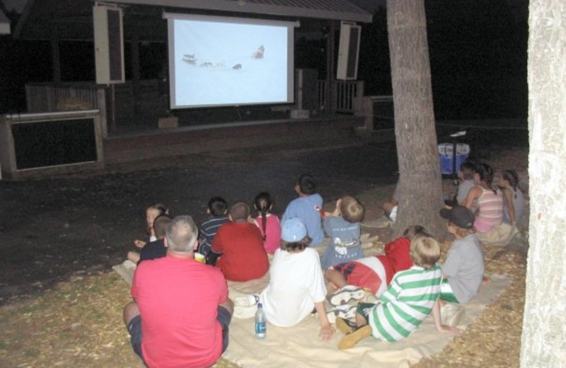 Outdoor movies at Sunny Hill Resort & Golf Course.