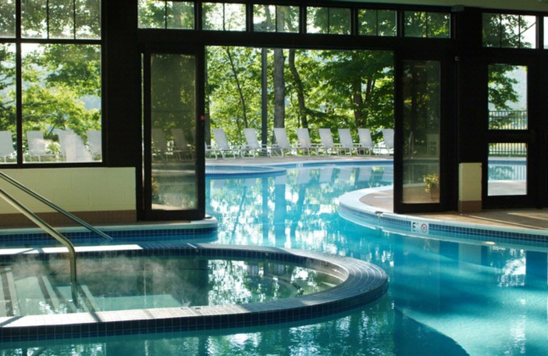 Indoor pool at Stonewall Resort.