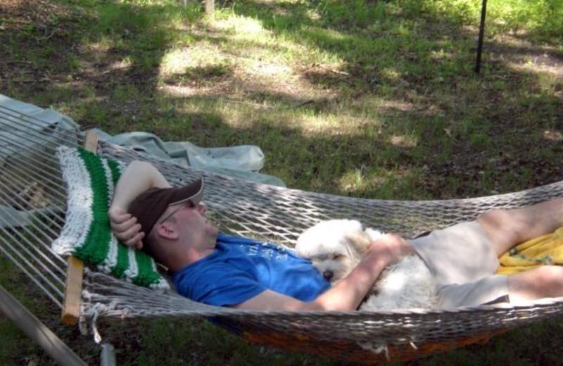 Relaxing at Battle View Resort.