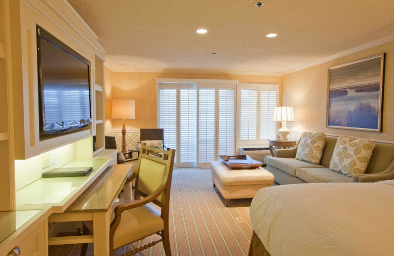 Guest bedroom at Ocean Edge Resort & Golf Club.