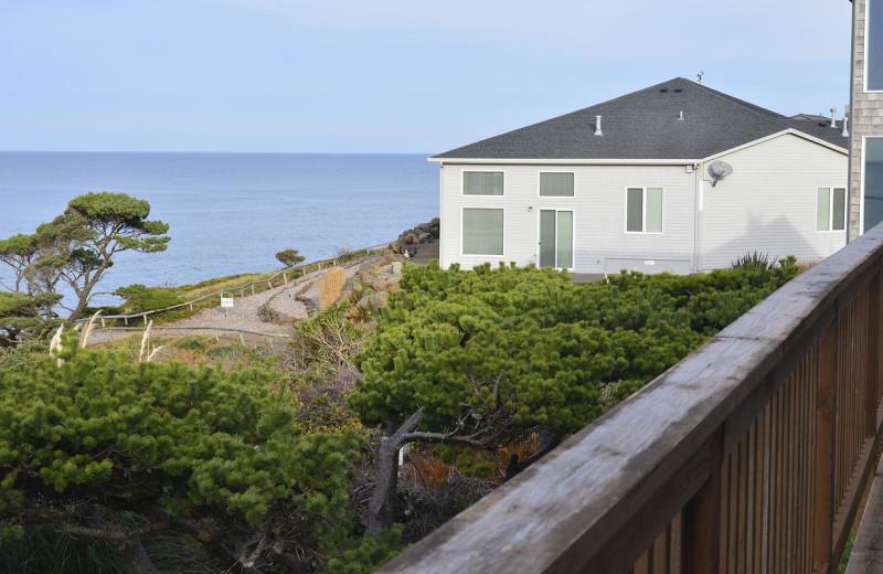 Beach view at Surfrider Resort.