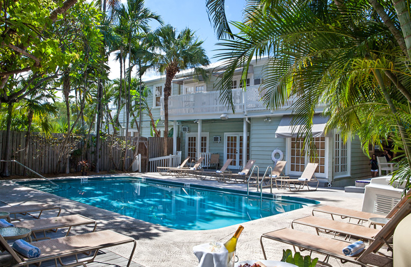 Outdoor pool at Southernmost Inn.