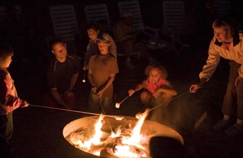 Family bonfire at The Homestead.