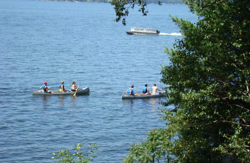 Canoeing at Gull Four Seasons Resort.