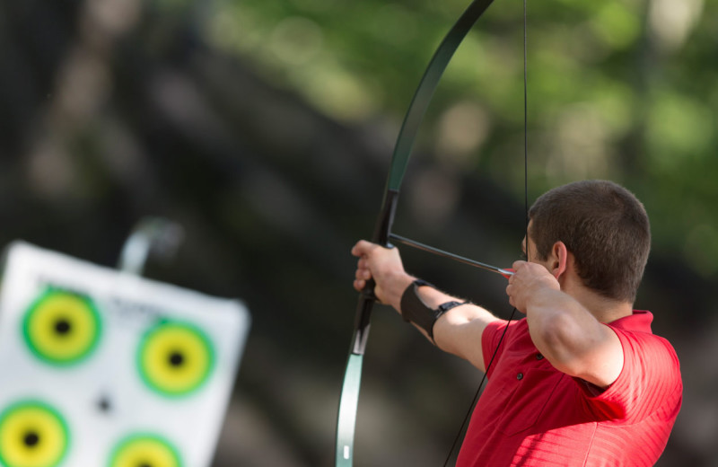 Archery practice at Wintergreen Resort.