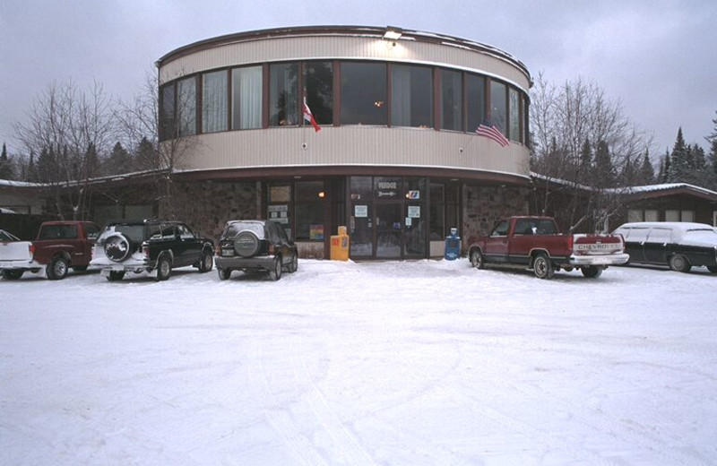 Exterior view of Falcon Lake Resort Hotel.