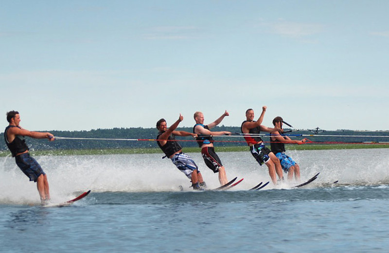 Water skiing at Hiawatha Beach Resort.