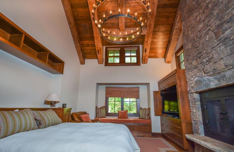 Rental bedroom at Taylor-Made Deep Creek Vacations.