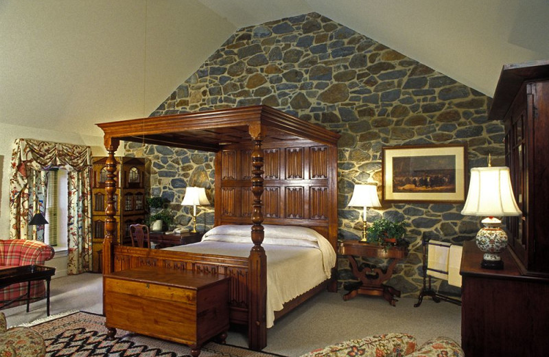 Guest room at Inn at Montchanin Village.