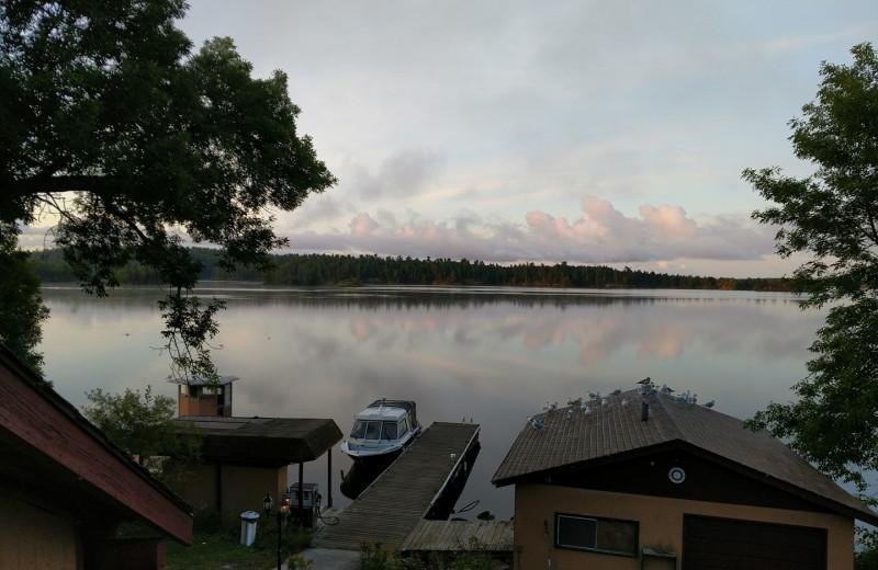Lake view at Pipestone Point Resort.