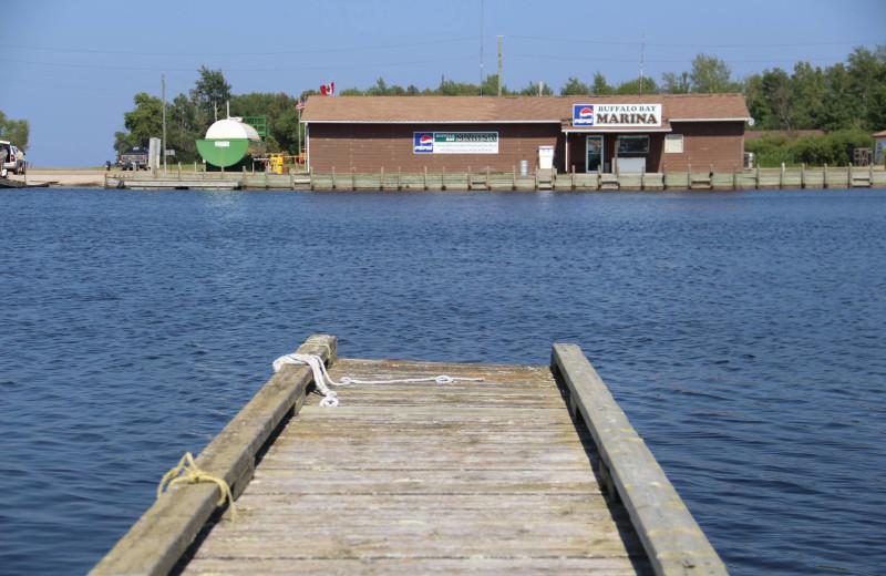 Dock at Buffalo Point Resort.