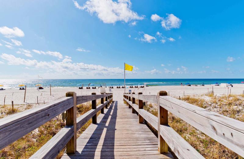 Beach at Pointe South.