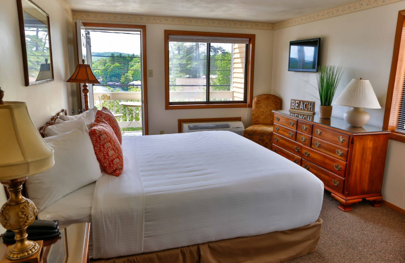 Guest room at  Naswa Resort.