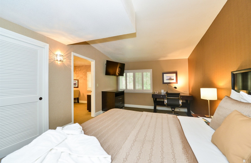 Guest room at Lions Gate Hotel.