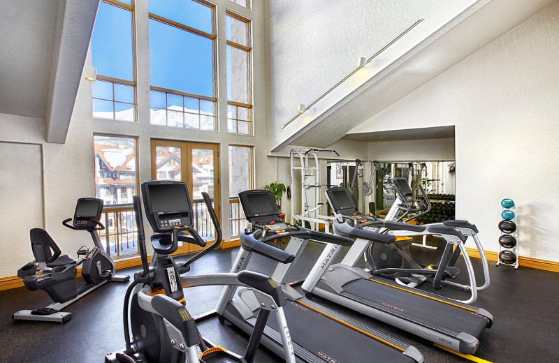 Fitness room at Fairmont Heritage Place, Franz Klammer Lodge.