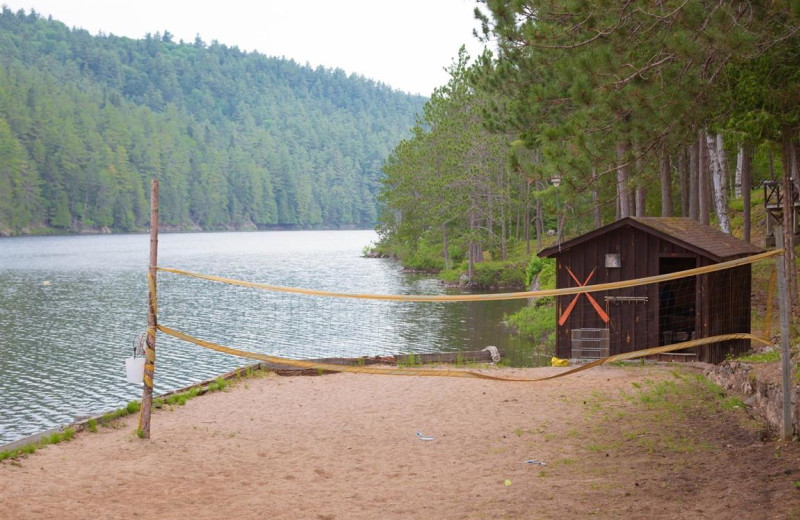 Volleyball court at Mattawa River Resort.