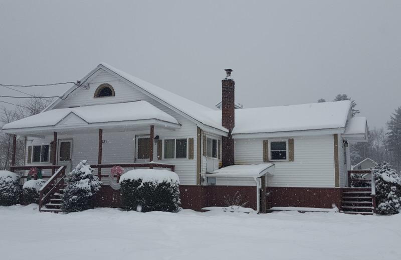 Winter at Riverbank Motel & Cabins.