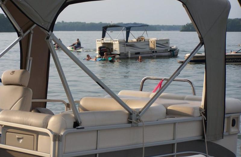 Boating at Bay Pointe Inn.
