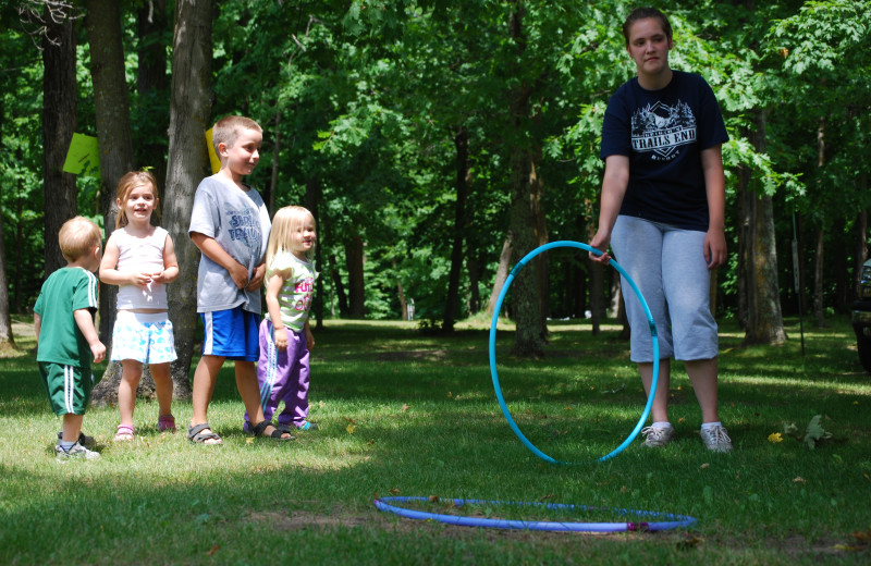 Family activities at Geiger's Trails End.
