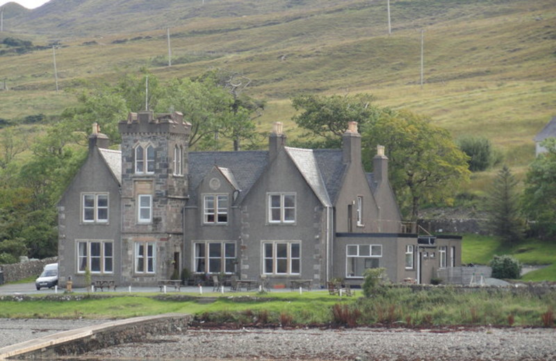 Exterior view of Sconser Lodge Hotel.