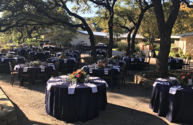 Wedding reception at Joshua Creek Ranch.
