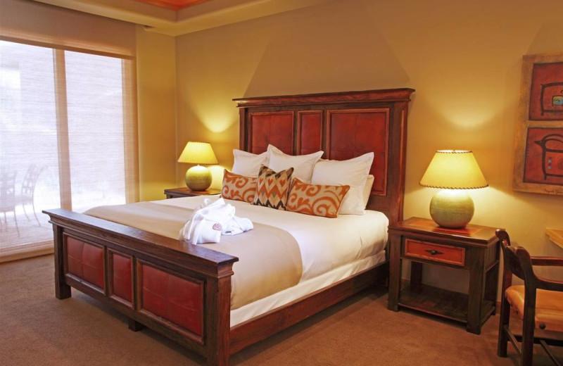 Guest bedroom at The Inn at Entrada.