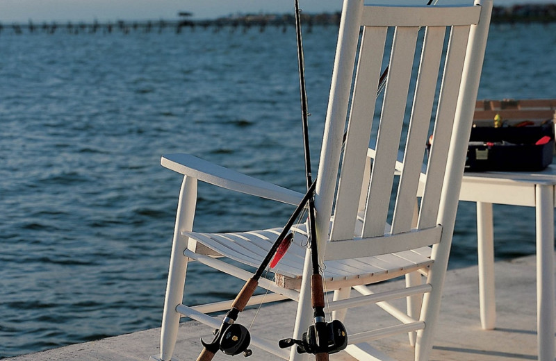 Fishing at The Lighthouse Inn at Aransas Bay.