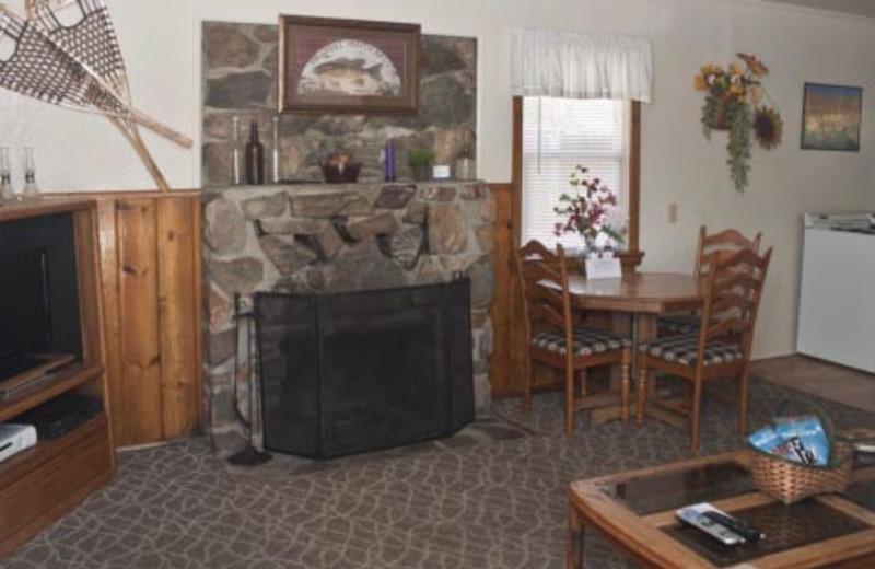 Cottage interior at Blue Horizon Lodge.