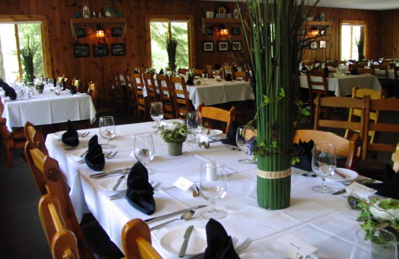Dining room at Lost Lake Lodge.