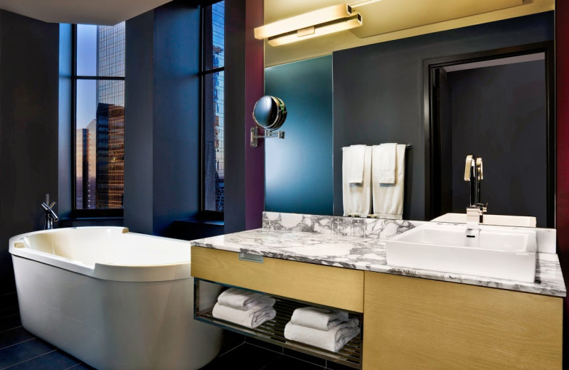 Guest bathroom at The W Hotel Minneapolis.