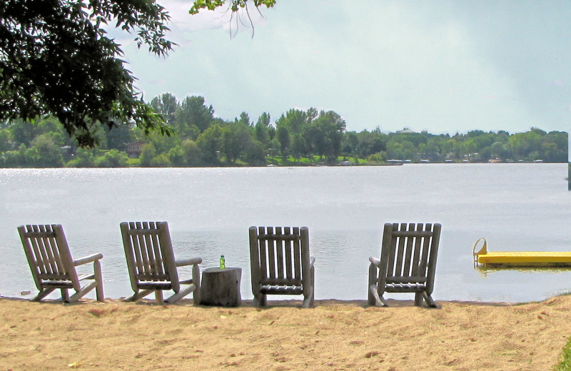 The beach at Mill Lake Resort.