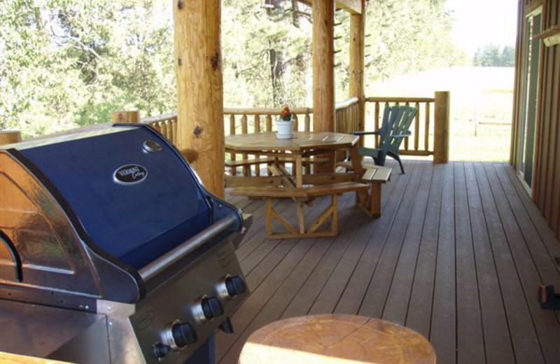 Cabin deck at Gentry River Ranch.